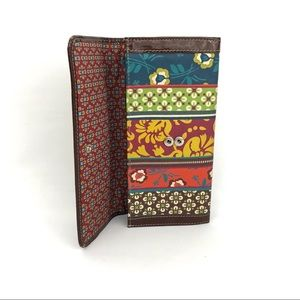 Fossil Floral Leather Fold Over Wallet